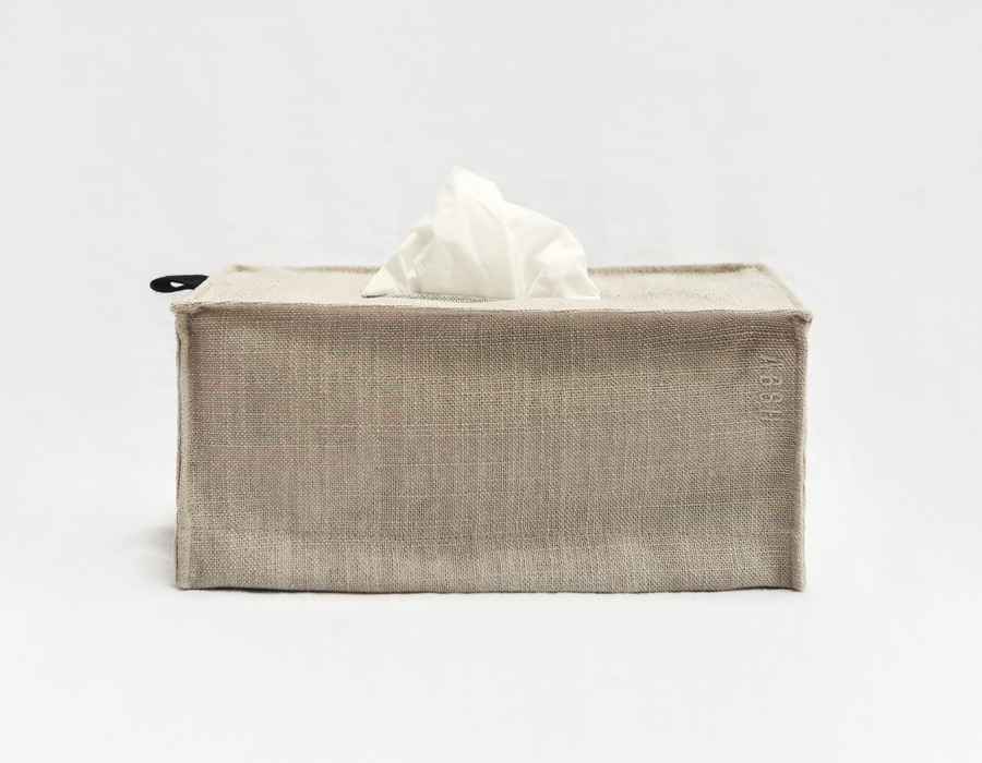 beige minimal tissue box cover